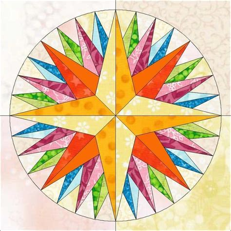 unsupported pattern js kaleidoscope mariner s compass block craftsy