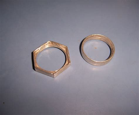 How To Make Handmade Rings - hex coin ring 6 steps with pictures