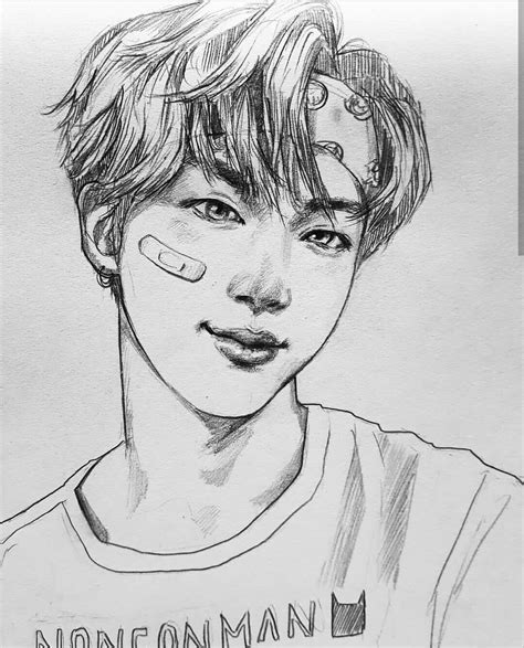 Kpop Drawing by Pin By Khl 248 E 클로애 On Bts Bts Fanart And Seokjin
