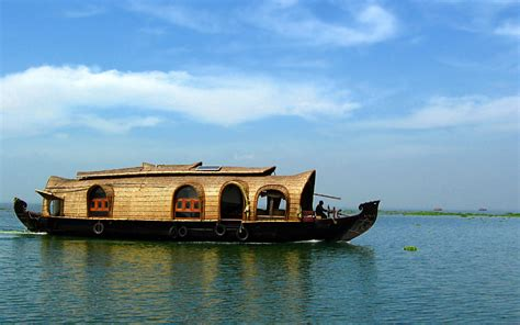 kerala house boat india wallpaper 183 ibackgroundwallpaper