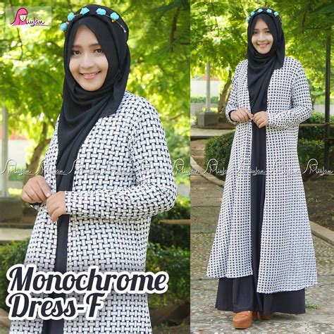 Gamis Monochrome Polos gamis monocrome f pusat modern