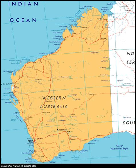 map of western australia with cities and towns map of western australia tourizm maps of the world