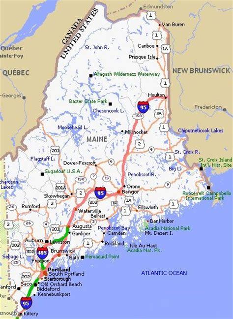 map us maine maine mapa maine