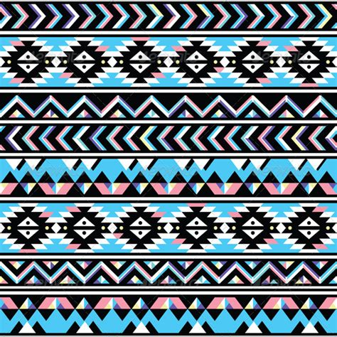 aztec pattern ai tribal aztec seamless blue and pink pattern by redkoala