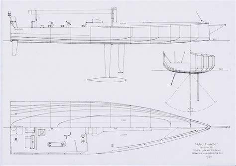 blueprint designer chevalier taglang volvo ocean race yacht drawings