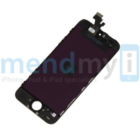 iphone 5 complete front lcd glass digitizer black