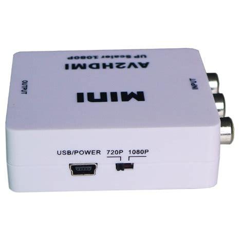 Murah Hdmi To Av Rca Converter Adapter Mini saintholly mini av to hdmi converter st 219 black