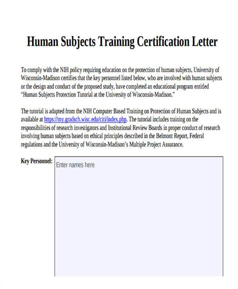 certification letter meaning certification template