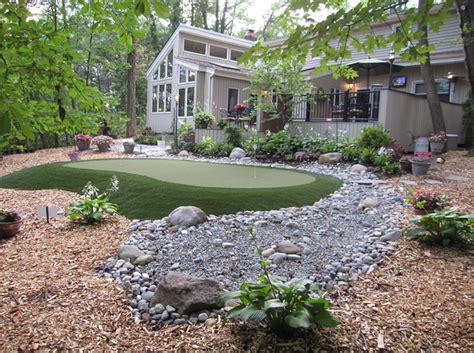 Green Backyard by Custom Built Putting Greens L Nj Pa L Deshayes Greens