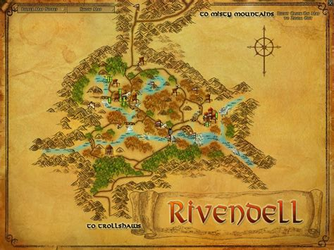 lord of rings map homes for the hobbit rivendell coldwell banker blue