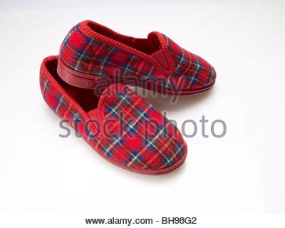 Cozy Background Check Tartan Slippers Cozy Check Warm House L Stock Photo Royalty Free Image 27862049