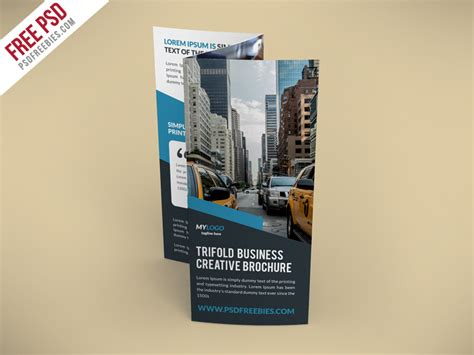 download free creative trifold brochure free psd template
