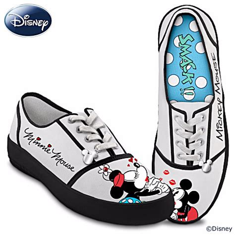 mickey sneakers retro style kissin mickey minnie signature disney