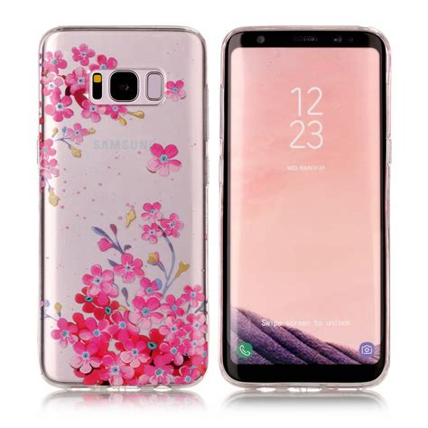 Tpu Flower Samsung S8 Edge S8 Plus Soft Casing Back Cover Bumper patterned ultra slim soft rubber tpu clear gel cover for samsung s8 s7 edge ebay