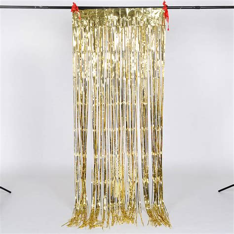 foil curtains shimmering foil curtain party decoration by scene setter