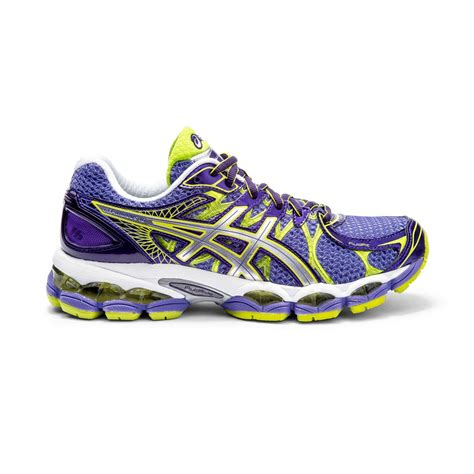 asics gel nimbus  womens running shoes purple