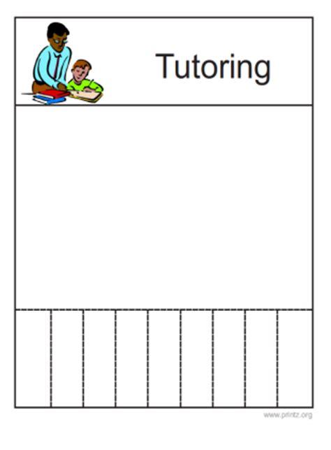 tutor flyer template free tutoring flyer