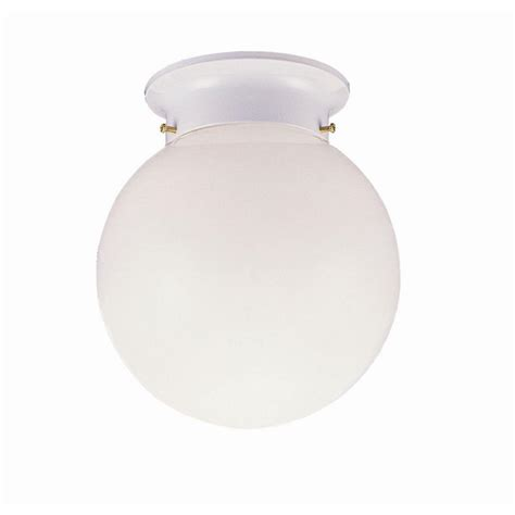 design house light fixtures design house 1 light white ceiling fixture with opal glass