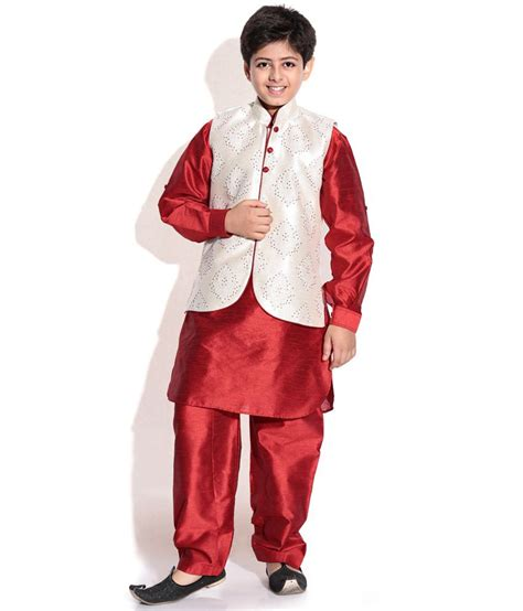 kurta colors riwaaz cream mehroon color kurta pajama set with jacket