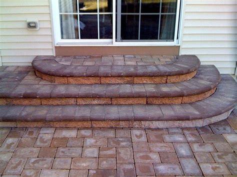 steps from patio doors outdoor living