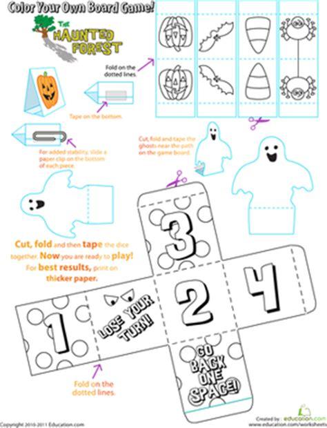 printable halloween board games halloween board game worksheet education com