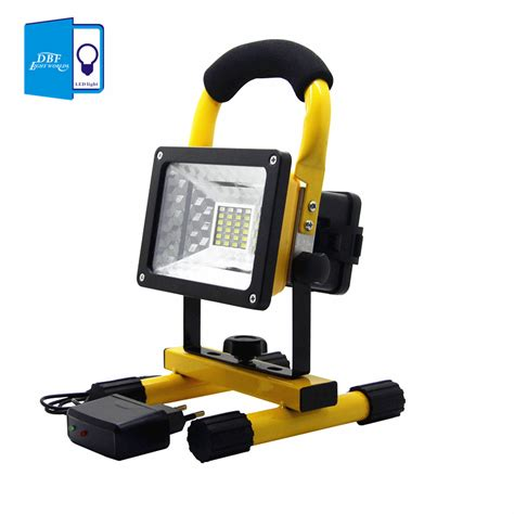 Portable Outdoor Lighting Dbf Waterproof Ip65 Smd3528 24led 3models 30w Led Flood Light Portable Spotlights Rechargeable