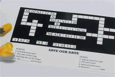 wedding announcement in crossword 5 creative ways to announce your engagement to the family