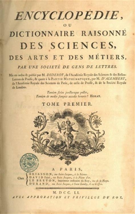 enciclopedie illuminismo historique de la communication scientifique avant le xixe