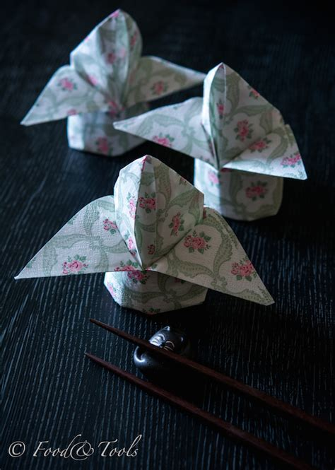 Paper Napkin Flower Folding - how to fold a paper napkin into a flower bud food and tools