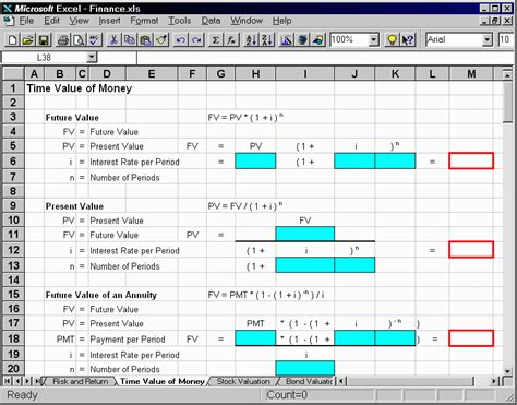 Finance Spreadsheet by Fast Formulas Formulas Included In The Finance Spreadsheet