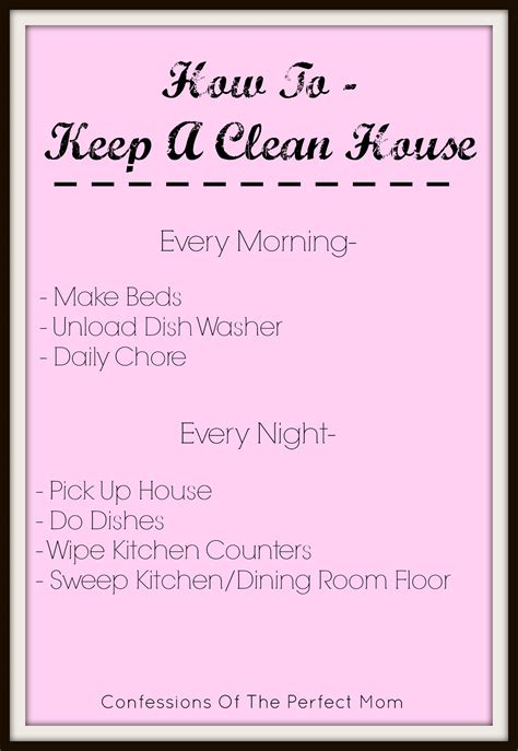 how to keep a house clean how to keep a clean house confessions of the perfect mom