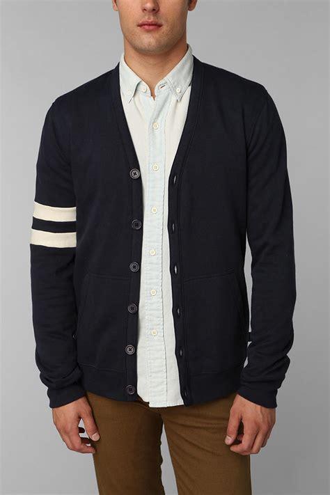Sweater Rajut Jaket Cardigan Jaket Varsity Jaket Korea 3 lyst outfitters hawkings mcgill fleece varsity cardigan in blue for