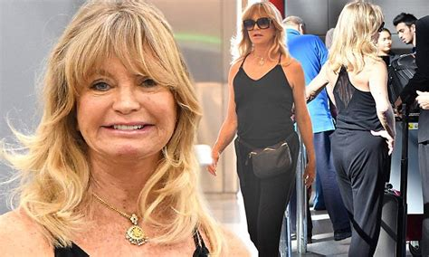 goldie hawn now photos goldie hawn showcases her svelte frame at lax daily mail
