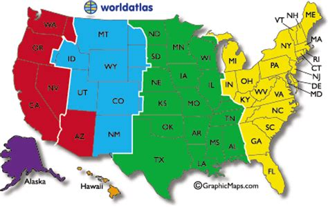 us map of states with time zones current dates and times in u s states map