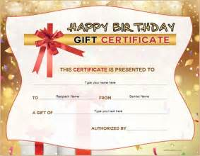 Birthday Gift Certificate Template For Word by Free Birthday Gift Certificate Template Formal Word