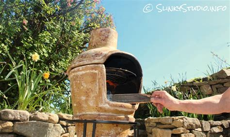 Clay Chiminea And Pizza Oven La Hacienda Clay Pizza Chimenea Review Slinky Studio