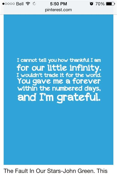 i am infinity quot i cannot tell you how thankful i am for our