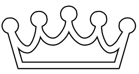 prince crown template clipart best
