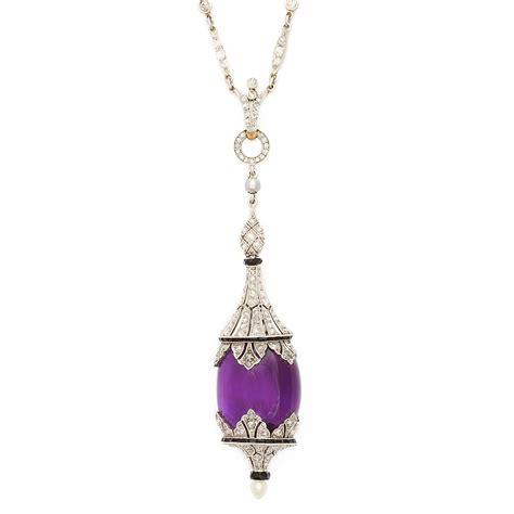 a la vieille russie 1930s amethyst pendant necklace