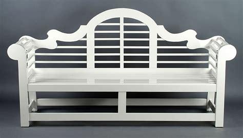 white lutyens garden bench outdoor garden benches in painted mahogany or teak