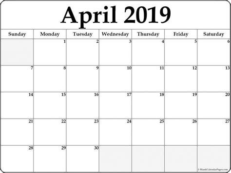april calendar template word april april