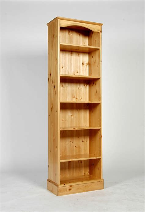 Baltic Pine Furniture Tall Narrow Bookcase Bookshelf Slim Narrow Pine Bookcase