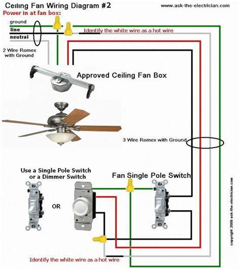 ceiling fan wiring diagram 2 kitchen