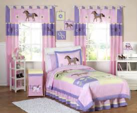 Girls Twin Bedding Sets Pink Pony Horse Bedding For Girls Twin Comforter Sets 4pc