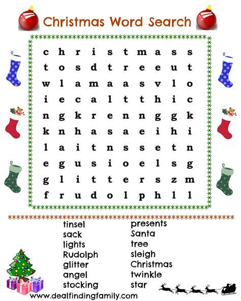 christmas wordsearch for kindergarten printable free printable christmas word search foothills mama