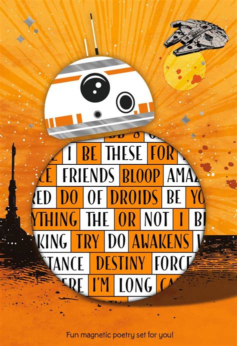 star wars  force awakens bb  card  magnetic poetry words greeting cards hallmark