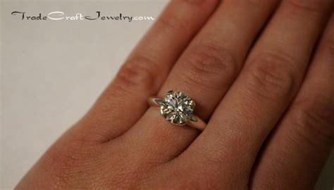 Cincin Cubic Zirconia Cut argentium sterling silver cubic zirconia engagement ring