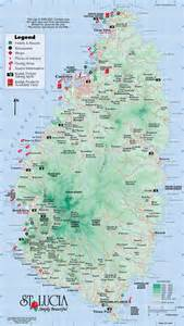 map of st and st map travel st lucia