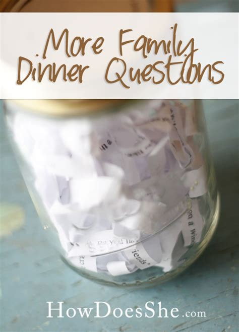 questions for a dinner family dinner questions
