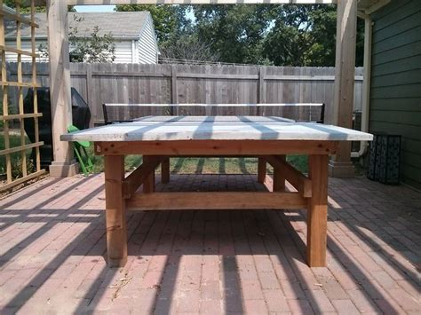 diy outdoor ping pong table concrete ping pong table plans brokeasshome com